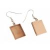 Bezel Handmade Earring Square 16x2mm Copper